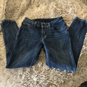 Levi's Black Label Distressed Skinny Jeans